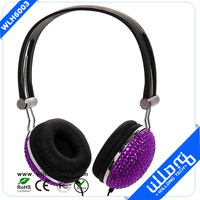 Crystal Rhinestone Bling DJ Stereo Headphone