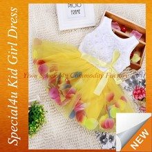Baby girls net within flower skirt cheap frock design for cutting SFUBD-921