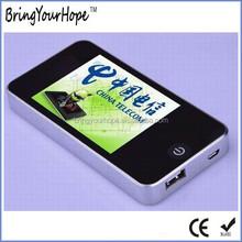 I5 shape 4000mAh LED screen advertising picture power bank (XH-PB-129)