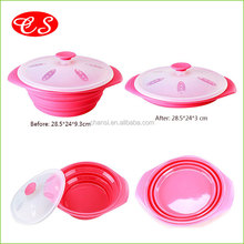 Chan-Si 2015 heat-resistant food container folding Kitchen Utensil factory price silicone food steamer