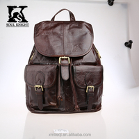 SK-2031 SK design 100% top leather bacpack school leather bag travel bag