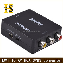 factory price hdmi to av converter box for tv hdmi to rca converter box high quality hdmi input to rca output hdmi2av converter