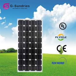 China portable mono 100w import solar panels
