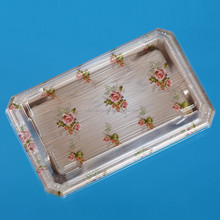 PS plastic container food packaging sushi tray with cover