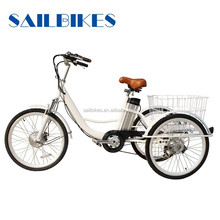 three wheel electric adult bikes with 12ah battery