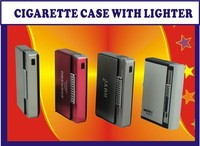 Popular product factory wholesale top quality cigarette case with lighter