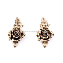 2015 fashion vintage alloy rose flower stud earring bulk buy from china