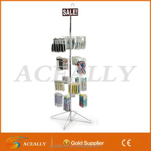 portable cell phone accessory display rack