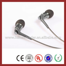 Trade Assurance supplier China 2015 hot selling high quality metal earphone/earbuds for phones/computers/mp3/tablets
