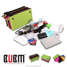 WHOLESALE BUBM orange color Portable Carrying Case for Hard Drive HDD Protective Bag Cable Organizer USB Storage Bag