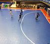 PP suspended interlocking sports flooring for futsal court