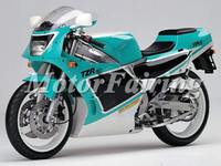 motorcycle fairing kit for yamaha tzr250 3MA 1989-1990 green