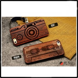 Wood Case Cover for iphone 6case Natural Genuine Walnut Bamboo Carving Design