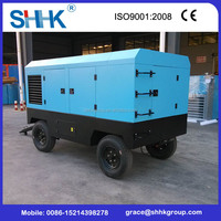 portable diesel engine driven air compressors