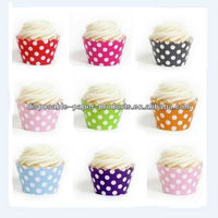 Wholesale 2400 x Spots Dots Polka Dot Cupcake Wrappers & Liners CUPCAKE WRAPS in 8 colors, Free Shipping by DHL, Fedex