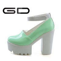 mature Sexy Women High Heel Platform Sandals Girls Buckle Strap Bow High Thick Heel Platform Sandal