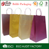 Small MOQ Promotional cheap kraft paper bag with handle