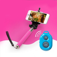 flexible monopod selfie stick, Selfie monopod stick with bluetooth remote controller