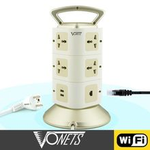 Home automation multi extension 300Mbps electrical socket wiring wifi 2 USB port