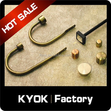 KYOK Multi-Use L-Shape Curtain Rod Hooks, Upscale Window Drapery Hooks Good Supplier