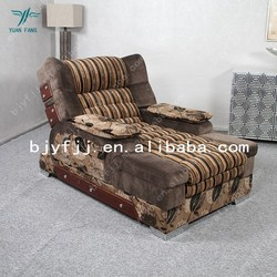Grade flocking cotton fabrics electric sofa bed ,living room furniture