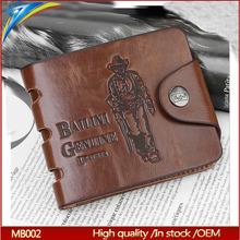 Popular Bailini brand man pu leather purse thin card wallet hot sale