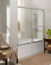 FOCA 96FC shower room with brushed nickel finish frame