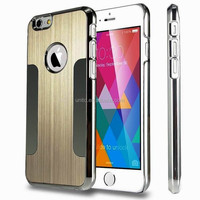 Hot selling Brushed Aluminum Chrome Blade Metal Case For iPhone 6