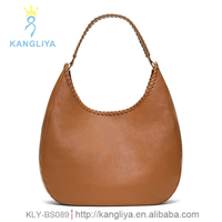 Braiding design top quality genuine leather fashion lady hobo bag