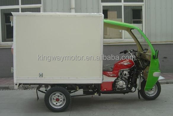 Chongqing 5 Years Golder Supplier Enclosed Adult Pedal Tricycle 250cc Water/Air Cooling Motor Cargo Tricycle For Sale