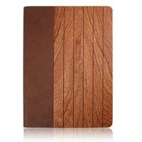 Alibaba high quality Wooden leather case for ipad air,leather flip case for ipad 5