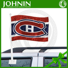 Best quality custom made used new promotion OEM service Montreal Canadiens car flag
