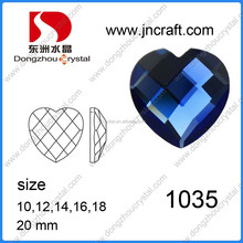 china glass stone different fashion shinning machine cut hear glass stones cushion cut multicolor loose stones