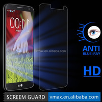 Factory price cell phone accessories Blue Light Cut screen potector for LG G2 oem/odm(A++ high quality)