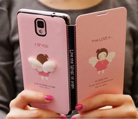 Cartoon pattern PC+PU+TPU cartoon phone case for samsung galaxy s3 s4 s5 note 3 note 4 CO-MIX-9033