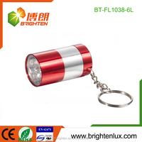 Best Selling Christmas Gift Emergency Usage 6 Led Flashlight Keychain Cheap Mini Size Custom Matal Fancy led torch keyring