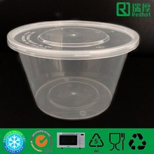 Transport packaging christmas food containers disposable clear plastic bowls 1000ml