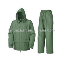 new design waterproof rain suit two pieces