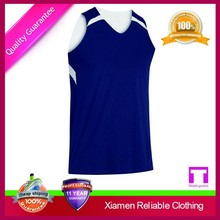 Breathable top style basketball jersey uniform design color blue