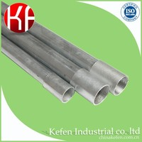 Cold rolled electrical metal conduit bs4568 class 4 gi hot dipped galvanized conduit parts for wire protection