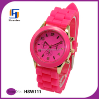 2015 Wholesale Vogue Silicone Fashion Ladies watches
