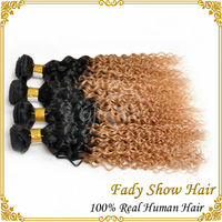 Ombre 1b/27 virgin brazilian deep curly hair unprocessed 100% virgin hair extension hair for braiding curly