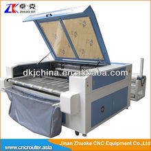 Auto Feeding Textile Laser Cutting Machine With Double Head ZK-1610 1600*1000MM