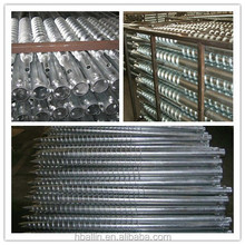 ground screw post anchor, screw piles, screw anchor for solar mounting