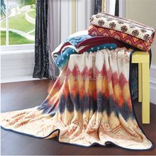 home textile 3d printing on fabric Sicilian coral fleece fancy throw/office nap blanket