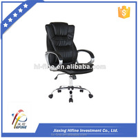 2015 hot sell high quality black chrome rotated office chair for sleeping