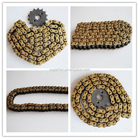 Chongqing motorcycle chain for cheaper sale, good material motorcycle parts chain, durable motorcycle chain parts