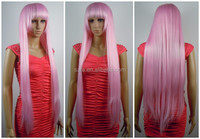 Wholesale Cosply Pink Long Wig Cheap Synthetic Wigs Japan High Temperature Silk