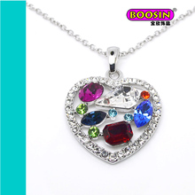 Fashion jewelry The Only Unique Love 2015 diamond heart necklace