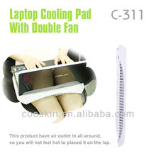 High speed double fans USB laptop cooling pad